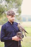 Alimentations masculines de faucon Photo libre de droits