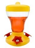 Alimentatore dell'uccello riempito di liquido fotografie stock libere da diritti