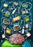 Alimentazione spaziale di intelligenza artificiale illustrazione vettoriale