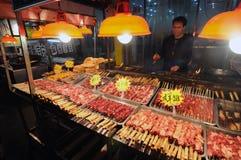 Alimenti arrostiti col barbecue della via Fotografie Stock
