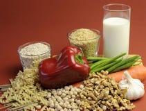 Alimenti bassi di GI per perdita di peso sana che dimagrisce dieta. Immagini Stock