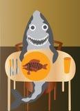Alimenti di pesce Immagini Stock Libere da Diritti