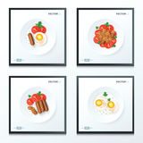 Alimenti di prima colazione messi Immagini Stock