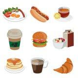 Alimenti ed icona della bevanda Fotografia Stock Libera da Diritti