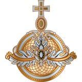 Alimenti il globo della monarchia di attributo di re, la regina, icona dello zar illustrazione di stock