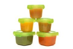 Alimenti per bambini casalinghi Immagine Stock