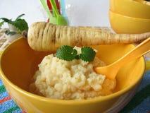Alimenti per bambini dalle pastinache Fotografia Stock Libera da Diritti