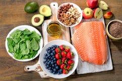 Alimenti per cuore sano fotografia stock libera da diritti