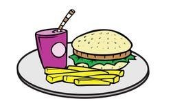 Alimenti a rapida preparazione illustrazione vettoriale