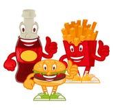 Alimenti a rapida preparazione del personaggio dei cartoni animati illustrazione di stock
