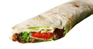 Alimenti a rapida preparazione del pranzo isolati Fotografie Stock