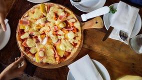 Alimenti a rapida preparazione della pizza Fotografie Stock Libere da Diritti