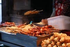 Alimenti a rapida preparazione della via coreana Immagine Stock