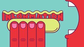 Alimenti a rapida preparazione di informazioni Immagine Stock