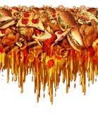 Alimenti a rapida preparazione grassi illustrazione di stock