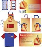 Alimenti a rapida preparazione Imposti design Alto falso marcante a caldo illustrazione di stock