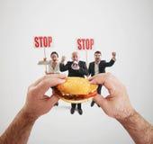 Alimenti a rapida preparazione nocivi Fotografie Stock
