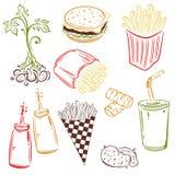 Alimenti a rapida preparazione, patate Immagine Stock