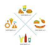 Alimenti a rapida preparazione piani Fotografia Stock