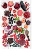 Alimenti salutari alti in antociani Immagini Stock Libere da Diritti