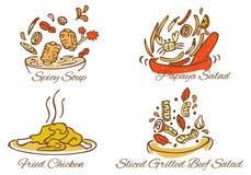 Alimenti tailandesi Illustrazione Vettoriale