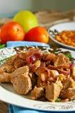 Alimento árabe de la carne Imagen de archivo libre de regalías