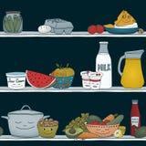 Alimento addormentato nel frigorifero Fotografia Stock