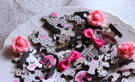 alimento adorabile di scintillio del piatto di puzzle immagine stock
