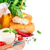 Alimento ainda italiano imagens de stock royalty free