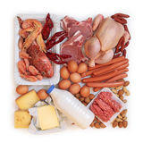 Alimento alto en proteína Foto de archivo