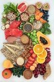 Alimento alto saudável da dieta da fibra foto de stock