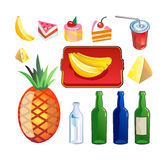 Alimento & bebida do vetor. Imagem de Stock