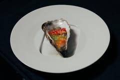 Alimento aperto dell'ostrica Immagine Stock