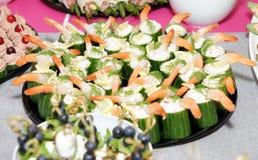 Alimento apetitoso del banquete Fotografía de archivo