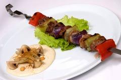 Alimento apetitoso del restaurante, tiro del estudio Foto de archivo libre de regalías