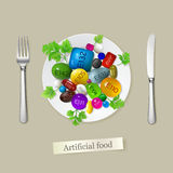 Alimento artificial Fotos de Stock Royalty Free