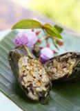Alimento asiático, bolinho de massa do arroz Foto de Stock Royalty Free