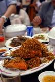 Alimento asiático: caranguejo da pimenta Imagem de Stock