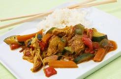 Alimento Asia del Wok Fotografia Stock Libera da Diritti