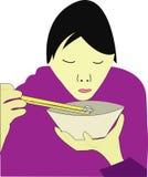 Alimento asiatico illustrazione vettoriale