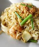 Alimento asiatico della via, tagliatelle della frittura di stir Fotografia Stock