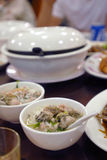 Alimento asiatico: Minestra dell'ostrica Fotografie Stock