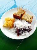 Alimento asiatico - torte e dessert fotografie stock