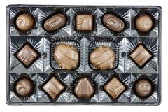 Alimento assortito della caramella del contenitore di cioccolato Fotografia Stock