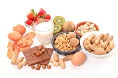 Alimento assortito di allergia Fotografia Stock Libera da Diritti