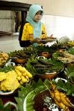 Alimento auténtico Bandung del Sundanese Imagen de archivo libre de regalías