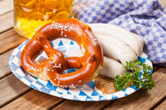 Alimento bávaro tradicional Foto de Stock Royalty Free