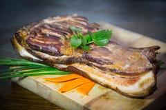 Alimento, bacon, carne Imagens de Stock