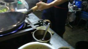 Alimento Bangkok Tailandia della via archivi video
