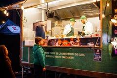 Alimento Barbu Vacarescu Festival da rua, Bucareste, Romênia Fotos de Stock Royalty Free